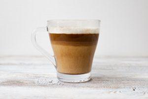 Coffee or tea with creamer